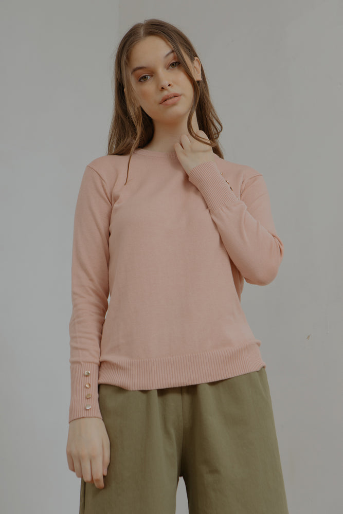 Button Long Sleeves Knit Sweater