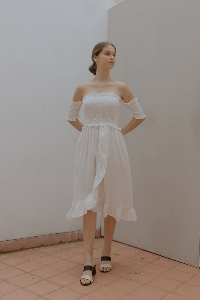 Athena Smock White Dress