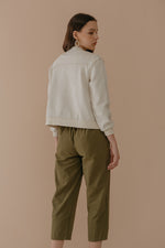 Olive Green Button Pants