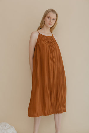 Load image into Gallery viewer, Amicale Brown Dress