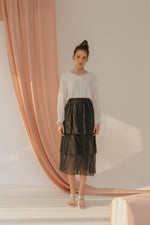 Polka Pleats Skirt