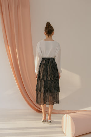 Load image into Gallery viewer, Polka Pleats Skirt