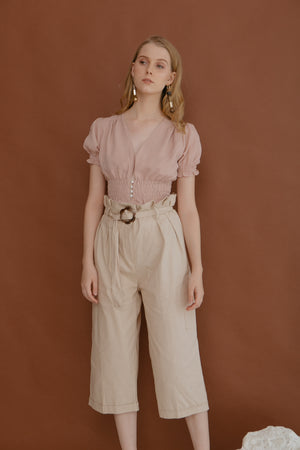Load image into Gallery viewer, Helga Pearl Top in Blush