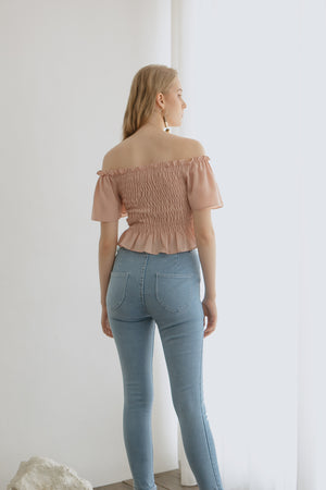 Jayne Smock Blush Top