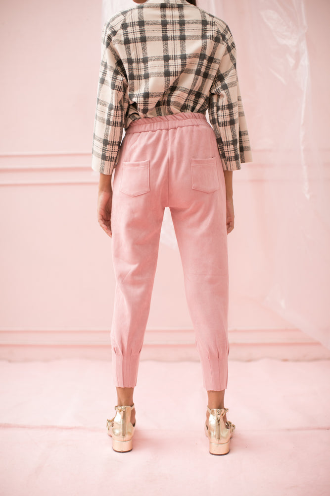 Load image into Gallery viewer, Keara Pink Velvet Pants