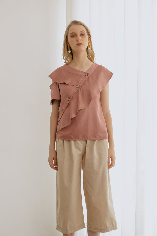 Load image into Gallery viewer, Mandy Layered Pink Top