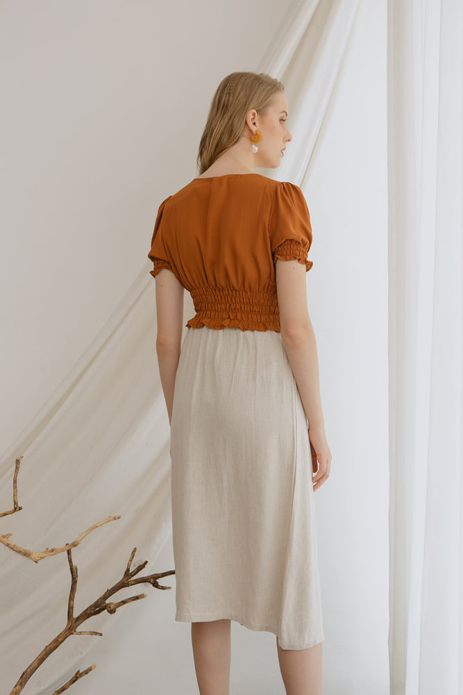 Load image into Gallery viewer, Helga Top in Brown