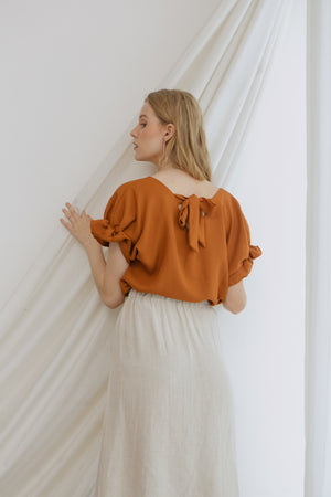 Alley Button Brown Top