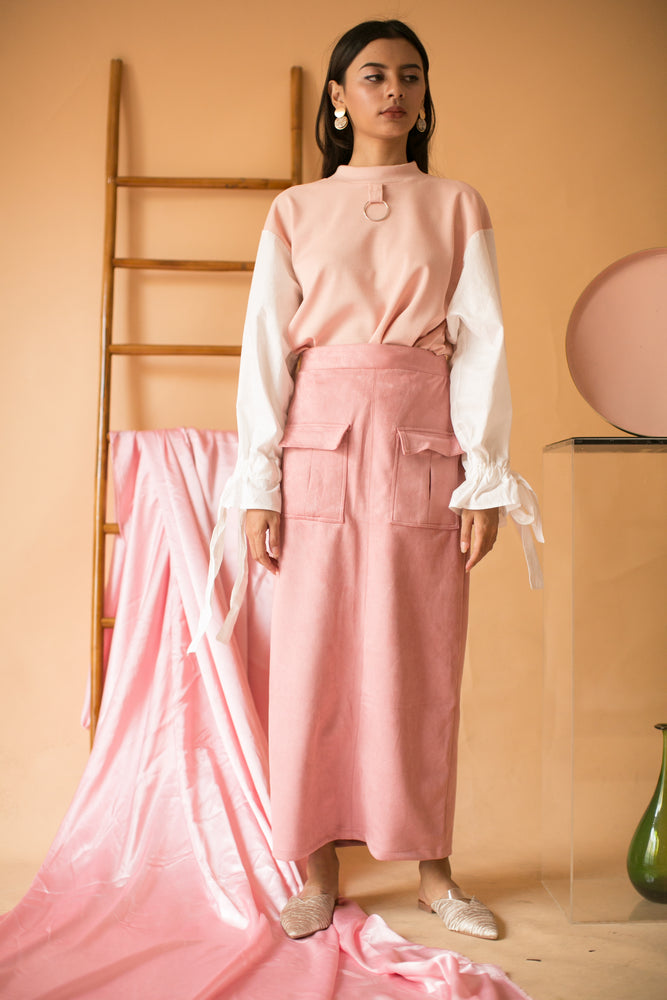 Catharina Pocket Skirt in Pink