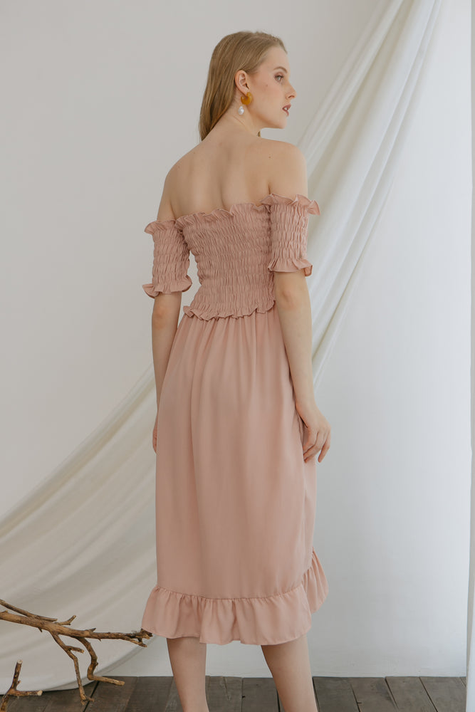 Load image into Gallery viewer, Athena Smock Pink Dress