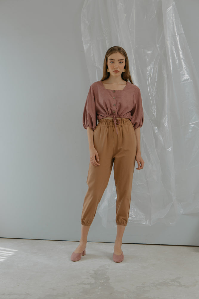 Load image into Gallery viewer, Brown Jogger Pants