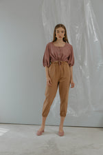 Brown Jogger Pants