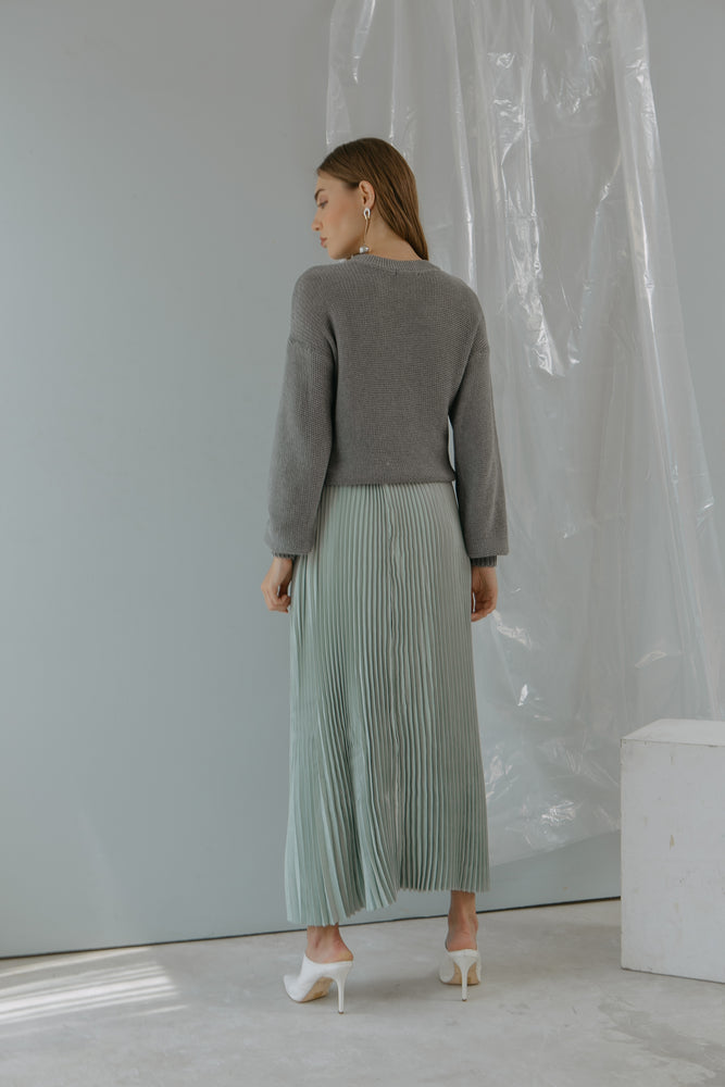 Load image into Gallery viewer, Pleats Pastel Skirt Blue