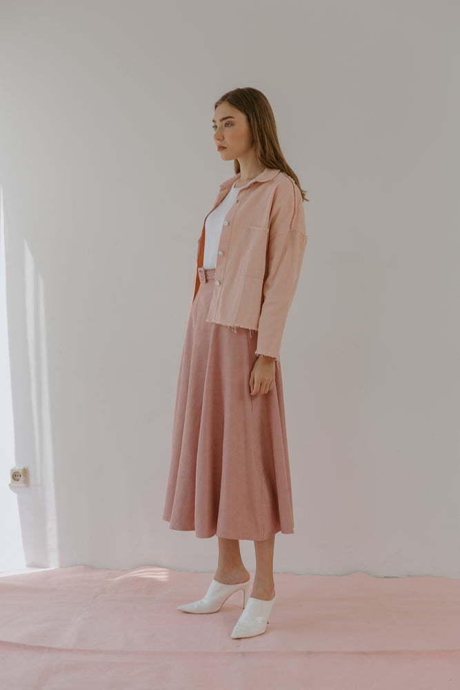 Load image into Gallery viewer, Roxette Pink Maxi Skirt