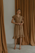 Blaire Nude Brown Dress