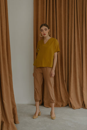 Load image into Gallery viewer, Siera Mustard Kimono Top