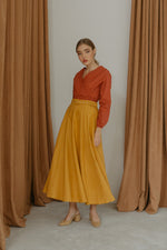 Roxette Yellow Flare Skirt