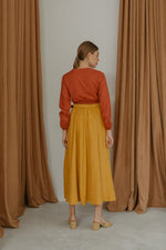Rumaysa Brick Color Smock Top