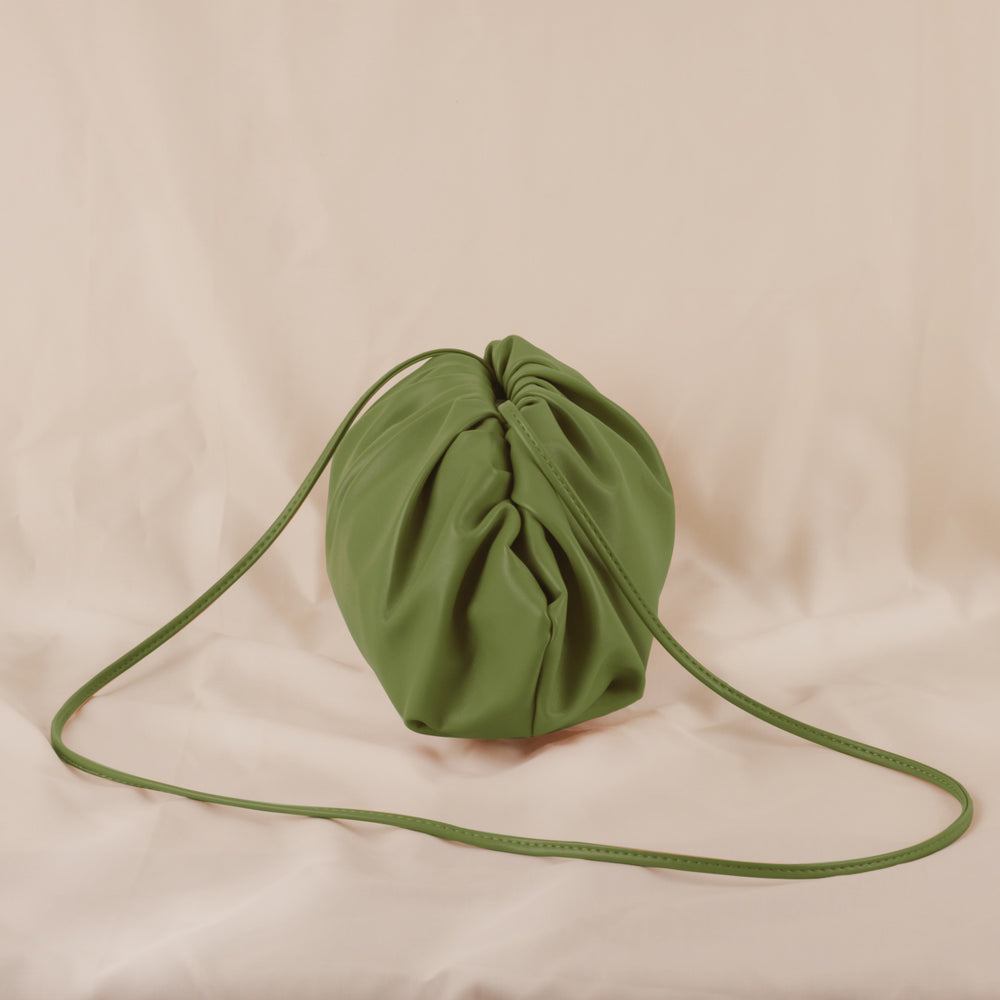 Load image into Gallery viewer, Matcha Dumpling Green Pouch Bag