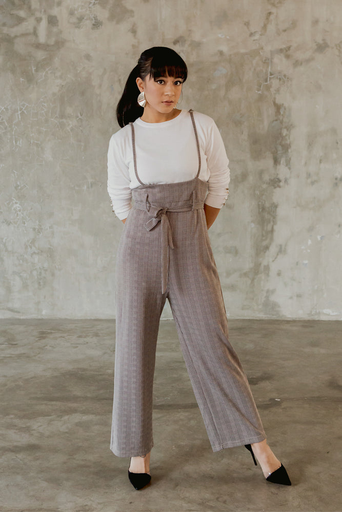 Load image into Gallery viewer, Eld Gin Grey Overall Jumpsuit