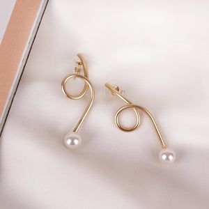 Load image into Gallery viewer, Root Pearl Earrings