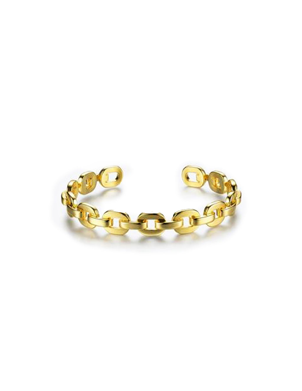 Gold Plated Chain Link Cuff