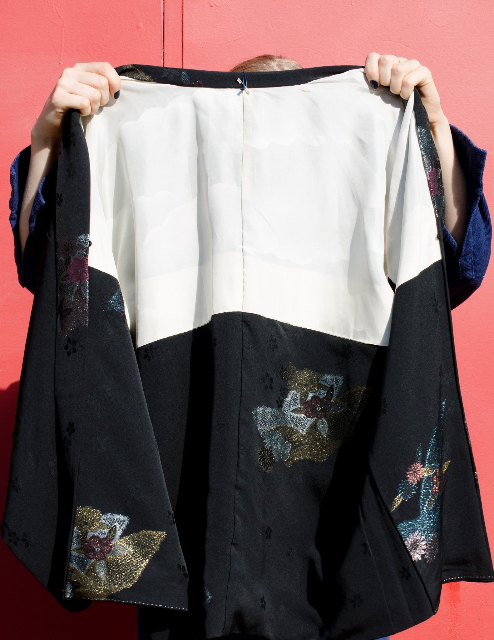 Collectible Urushi Embellished Black Silk Haori
