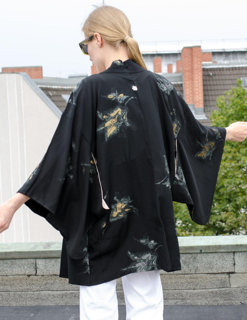 1940's Black Silk Haori