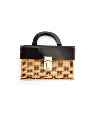 Wicker Cross Body Bag