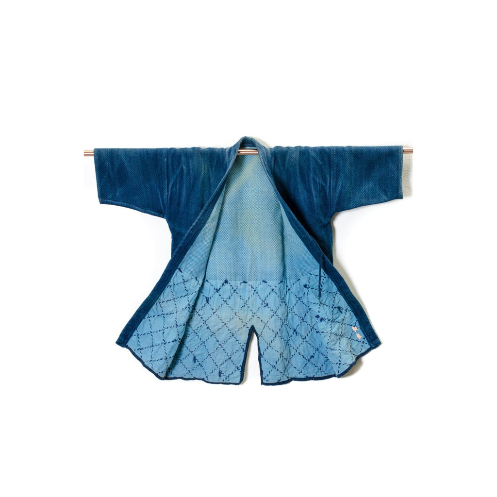 Azure Kendo Jacket Dyed With Natural Indigo