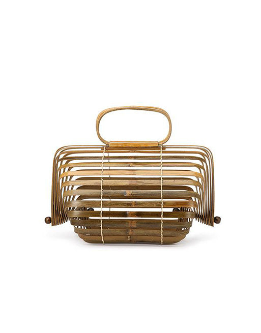Japanese bamboo basket bag