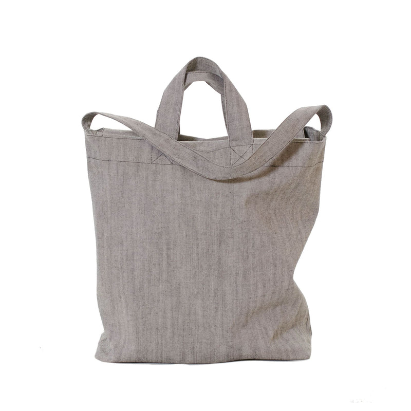 Canvas Shopper Bag With Zip