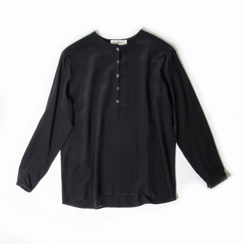 Easy to Wear Blouse in Black Silk