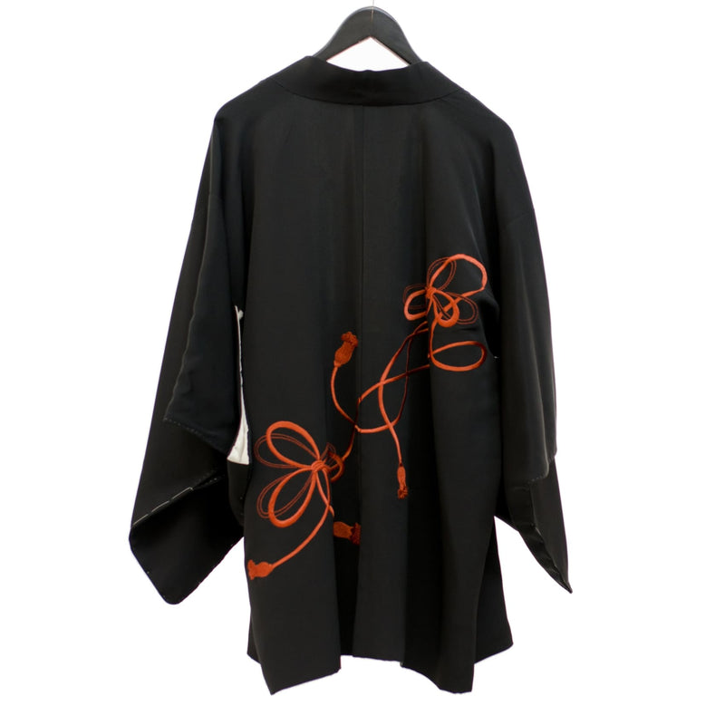 Embroidered Kimono | Embroidered Kimono Jacket | Black Haori Jacket