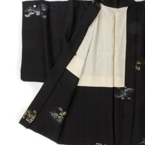 Gold and Silver Brocade Silk Kimono Jacket