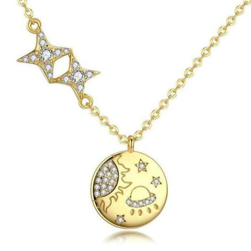 Gold Plated Galaxy Pendant
