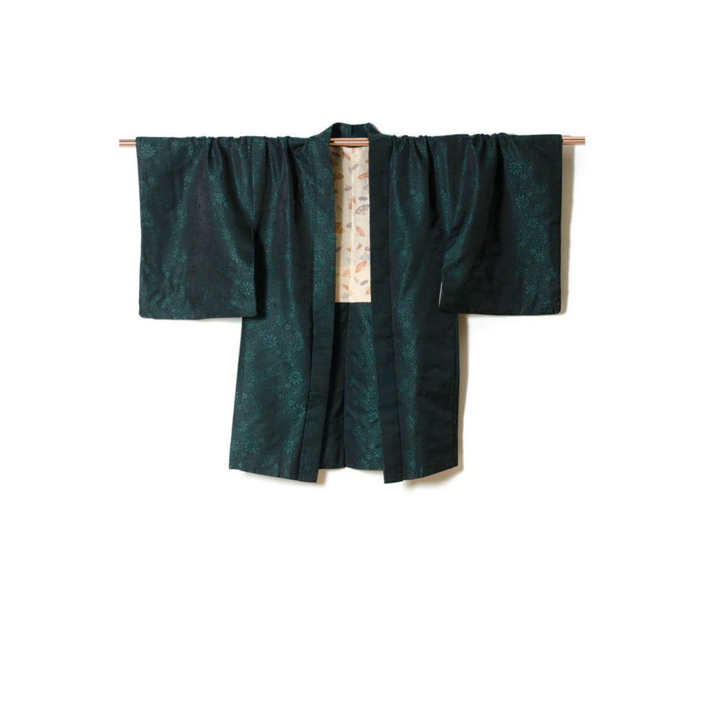 Green And Black Silk Kimono Jacket