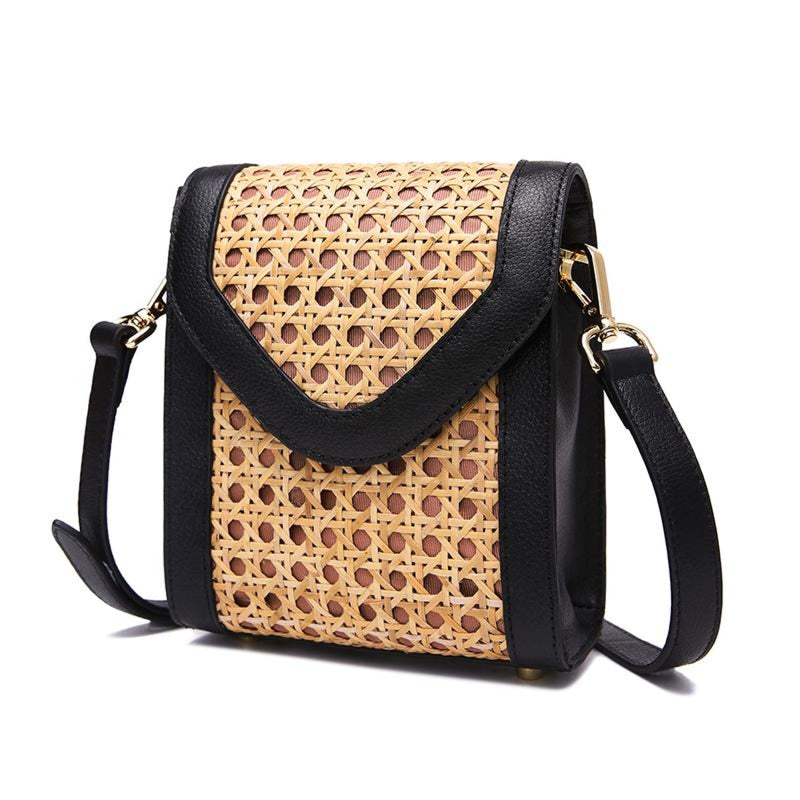 Handwoven Rattan Shoulder Bag