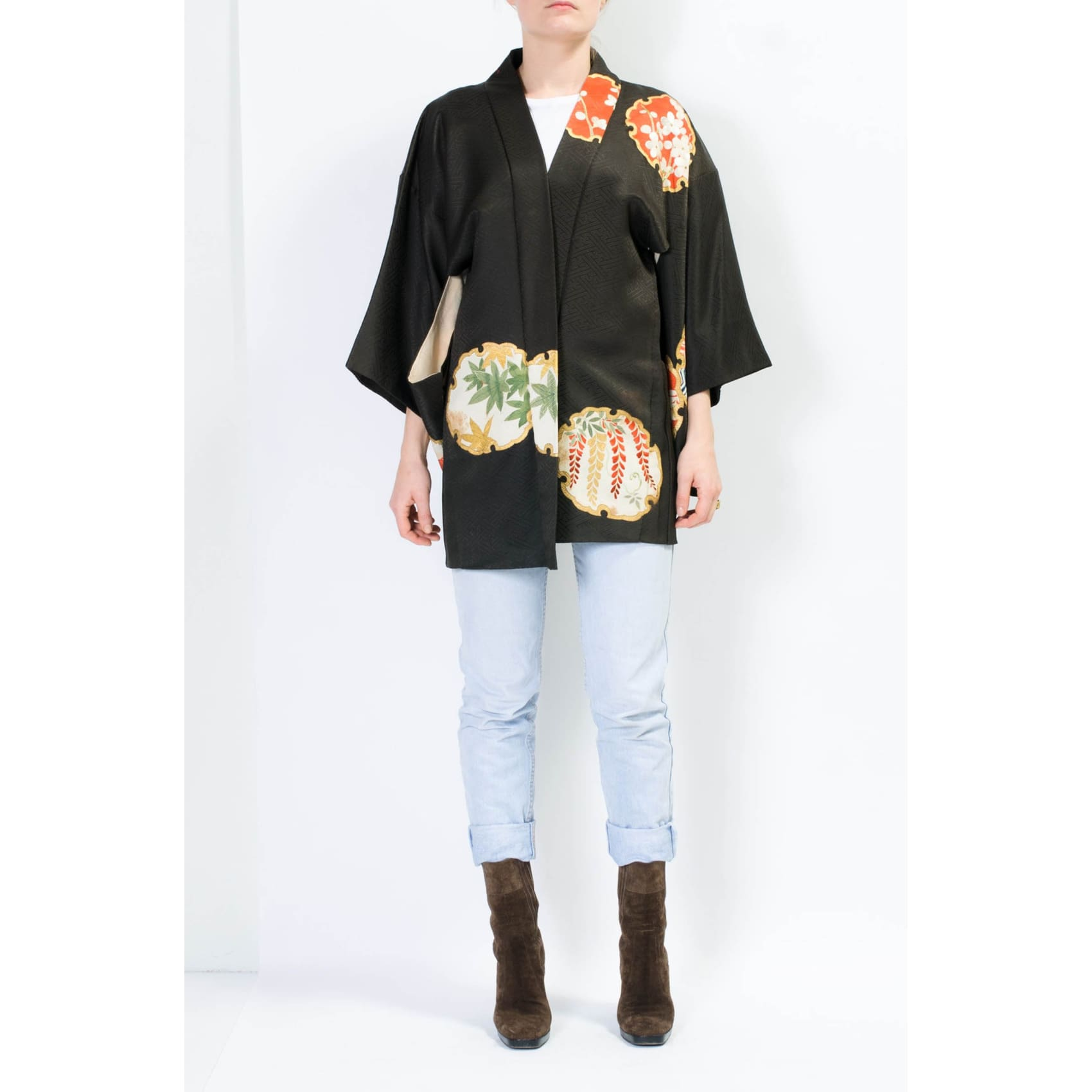Jasper Hand Embroidered Antique Kimono Jacket