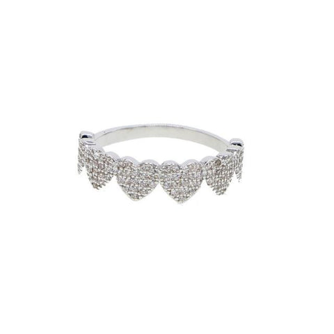 Micro Pave Love Heart Ring