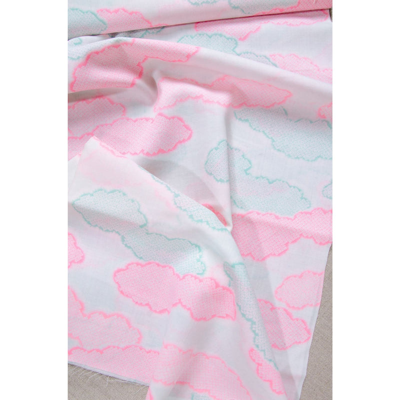 Neon Pink Pure Wool Fabric Roll