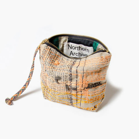 Northern Archive Embroidered Linen 16cm Pouch