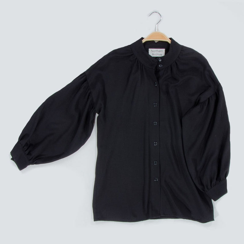 Pillow Blouse In German Made Black Viscose