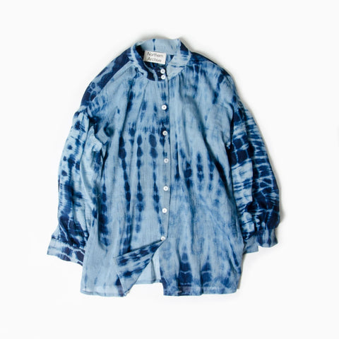 Pillow Blouse in Naturally Fermented Indigo