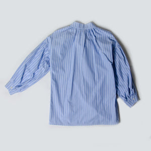 Pillow Blouse In Striped Egyptian Cotton