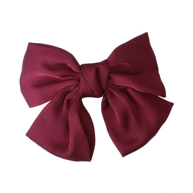 Large Satin Bow Barrette