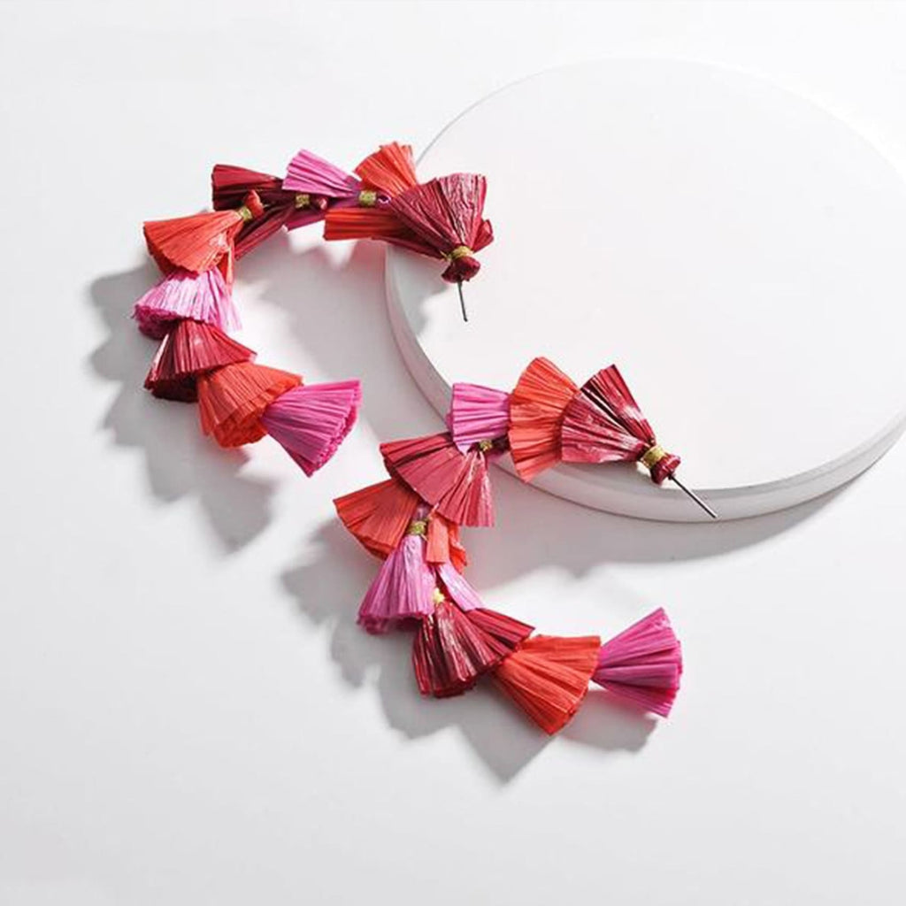 Raffia Statement Hoops