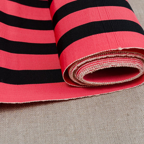 Striped Silk Fabric Bolt