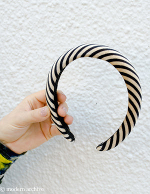Striped Velvet Headband