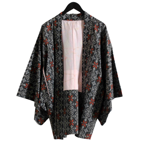 Grey Silk Haori Jacket